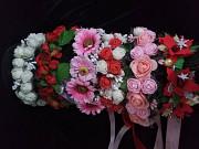 Венки, ободки из цветов. доставка из г.Ереван